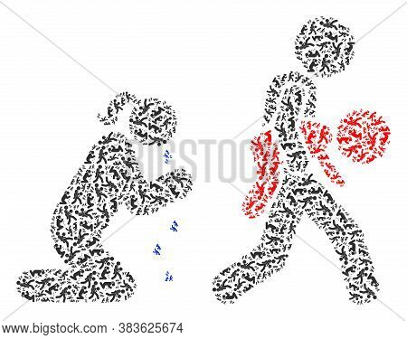Vector Juvenile Justice And Mother Mosaic Is Composed From Repeating Recursive Juvenile Justice And