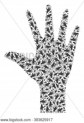 Vector Palm Fingers Composition Is Constructed Of Randomized Recursive Palm Fingers Elements. Recurs