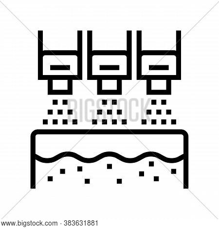 Bleaching System Line Icon Vector. Bleaching System Sign. Isolated Contour Symbol Black Illustration