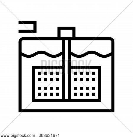 Paper Make Equipment Line Icon Vector. Paper Make Equipment Sign. Isolated Contour Symbol Black Illu