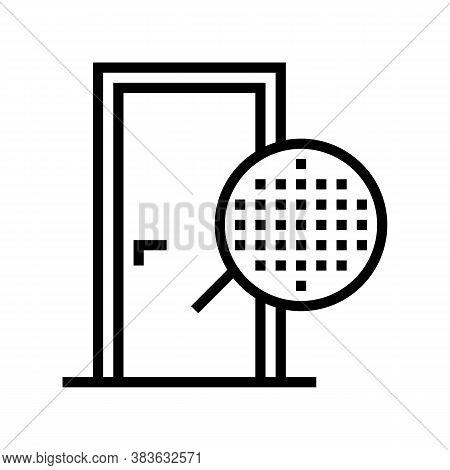 Veneer Material Door Line Icon Vector. Veneer Material Door Sign. Isolated Contour Symbol Black Illu