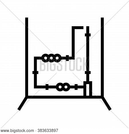 Electrical Wiring Line Icon Vector. Electrical Wiring Sign. Isolated Contour Symbol Black Illustrati