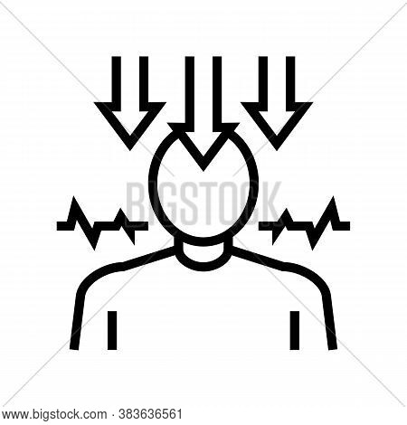 Neurosis Psychological Disease Line Icon Vector. Neurosis Psychological Disease Sign. Isolated Conto