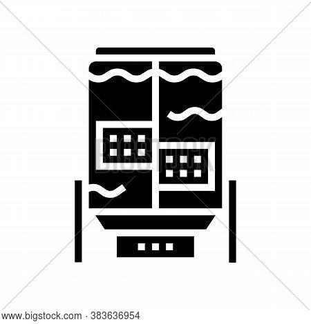 Paper Factory Equipmet Glyph Icon Vector. Paper Factory Equipmet Sign. Isolated Contour Symbol Black