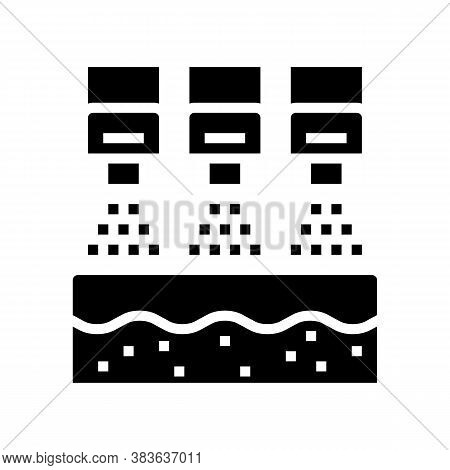 Bleaching System Glyph Icon Vector. Bleaching System Sign. Isolated Contour Symbol Black Illustratio