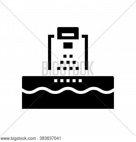 Washing Machine Glyph Icon Vector. Washing Machine Sign. Isolated Contour Symbol Black Illustration