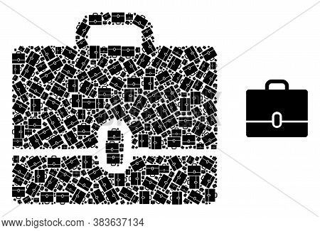Vector Case Mosaic Is Formed From Scattered Recursive Case Pictograms. Recursion Mosaic From Case.