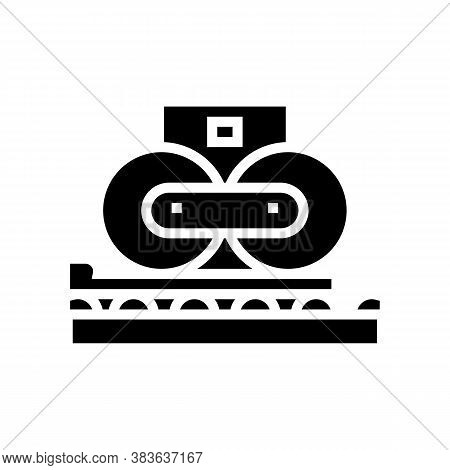 Paper Pressing System Glyph Icon Vector. Paper Pressing System Sign. Isolated Contour Symbol Black I