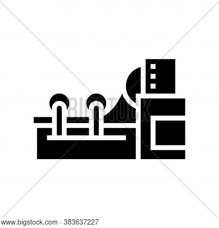 Paper Rolling System Glyph Icon Vector. Paper Rolling System Sign. Isolated Contour Symbol Black Ill