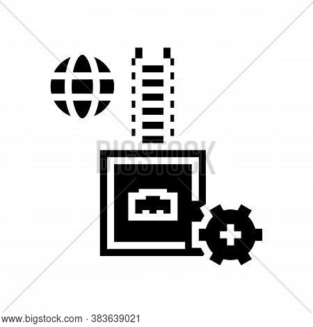 Electrical Fuse Glyph Icon Vector. Electrical Fuse Sign. Isolated Contour Symbol Black Illustration