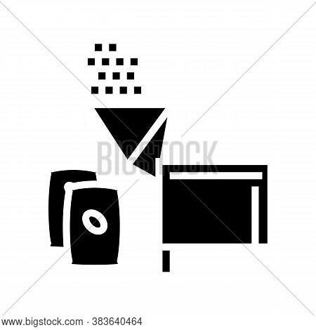 Cocoa Falling Asleep Glyph Icon Vector. Cocoa Falling Asleep Sign. Isolated Contour Symbol Black Ill