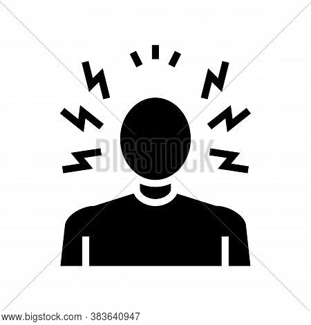 Anger Psychological Problems Glyph Icon Vector. Anger Psychological Problems Sign. Isolated Contour
