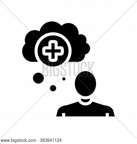 Mania Psychological Problems Glyph Icon Vector. Mania Psychological Problems Sign. Isolated Contour