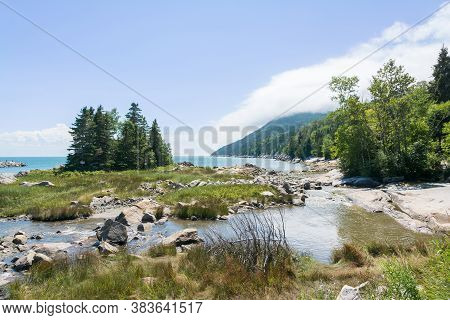 Walking Through The Nature Near The Town Of Port Au Persil During A Sunny Day In Canada.