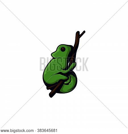 Chameleon Vector Design Template Illustration.logo Icon Design Elements