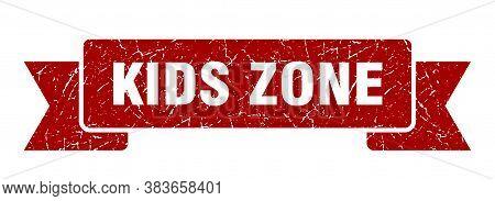 Kids Zone Ribbon. Kids Zone Grunge Band Sign. Kids Zone Banner