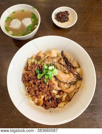Dry Chili Bainman Or Dry Chili Pan Mee Is A Popular Dish From Chow Kit Area Of Kuala Lumpur, Malaysi