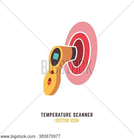 Non-contact Manual Temperature Scanner. Measuring Man Forehead Temperature. The Most Modern Way To M