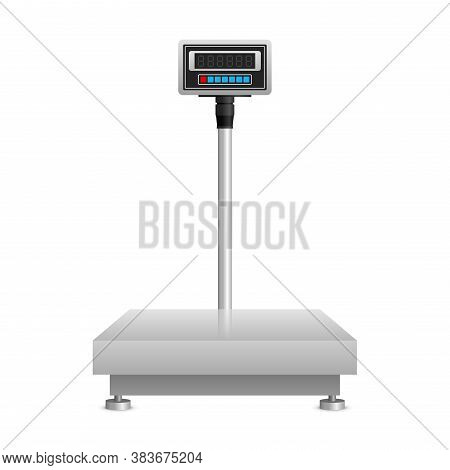 Industrial Weighing Scales Illustration -   Scale For Various Shipping And Production Packaging - Is