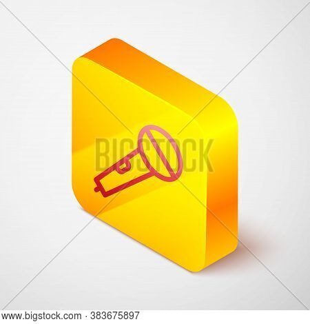 Isometric Microphone Icon Isolated On Green Background. On Air Radio Mic Microphone. Speaker Sign. W