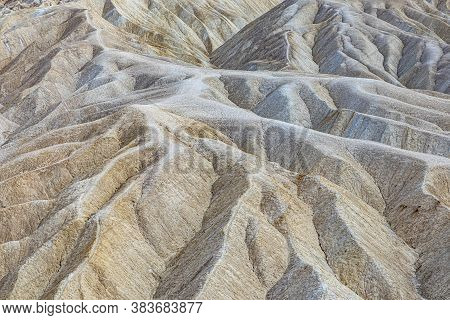 Famous Zabriskie Point In The Death Valley