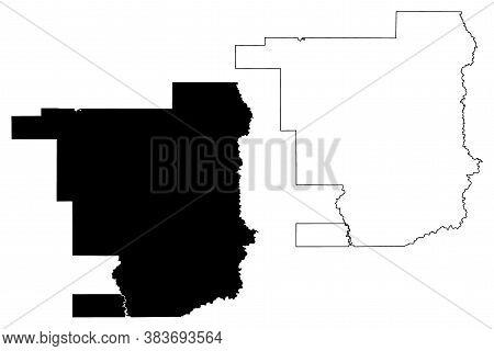 Jefferson Davis County, Louisiana (u.s. County, United States Of America, Usa, U.s., Us) Map Vector