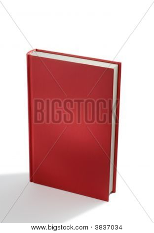 Empty Red Booki isolated on white background poster