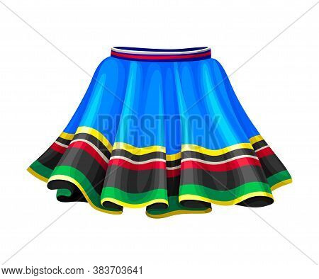 Ecuadorian Female Flared Skirt As Country Attribute Vector Illustration