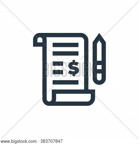 bill icon isolated on white background from economy collection. bill icon trendy and modern bill sym