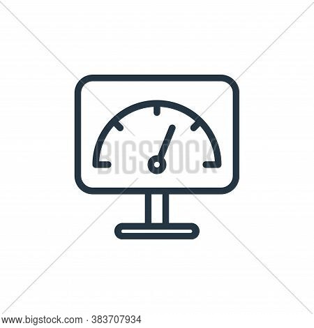 speed test icon isolated on white background from seo collection. speed test icon trendy and modern