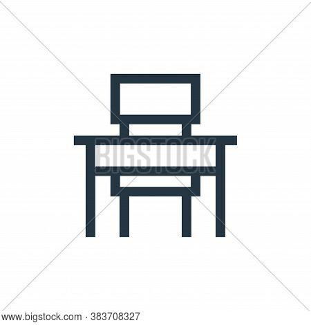 school desk icon isolated on white background from education collection. school desk icon trendy and