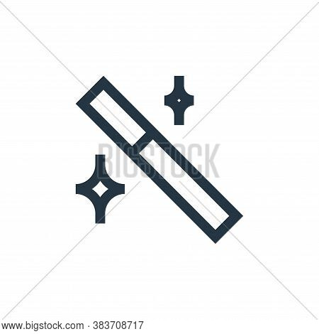 magic wand icon isolated on white background from vector editing collection. magic wand icon trendy