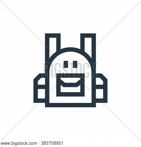 backpack icon isolated on white background from education collection. backpack icon trendy and moder