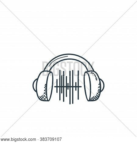 headphone icon isolated on white background from music collection. headphone icon trendy and modern