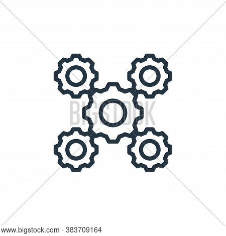 cogwheels icon isolated on white background from labour day collection. cogwheels icon trendy and mo