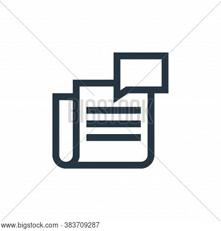 newspaper icon isolated on white background from message collection. newspaper icon trendy and moder