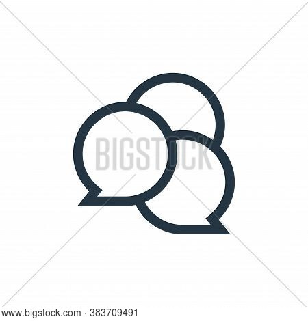conversation icon isolated on white background from message collection. conversation icon trendy and