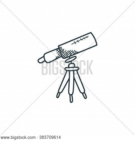 telescope icon isolated on white background from space and aircraft collection. telescope icon trend