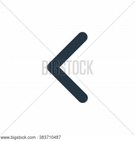 left icon isolated on white background from arrows collection. left icon trendy and modern left symb