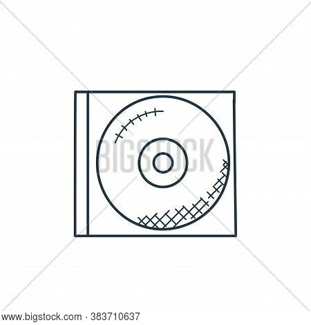 compact disc icon isolated on white background from music collection. compact disc icon trendy and m