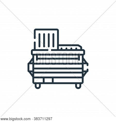 trash icon isolated on white background from fast food collection. trash icon trendy and modern tras