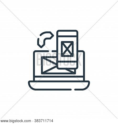 responsive icon isolated on white background from programming collection. responsive icon trendy and