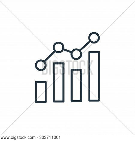 graph icon isolated on white background from finance collection. graph icon trendy and modern graph