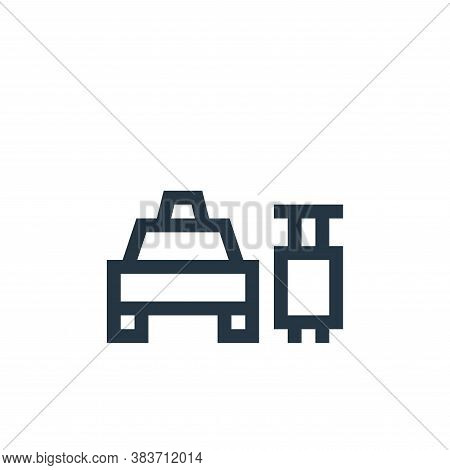 baggage icon isolated on white background from taxi service collection. baggage icon trendy and mode