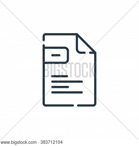 file icon isolated on white background from programming collection. file icon trendy and modern file