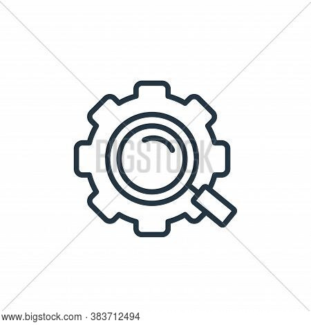 search icon isolated on white background from seo and website collection. search icon trendy and mod