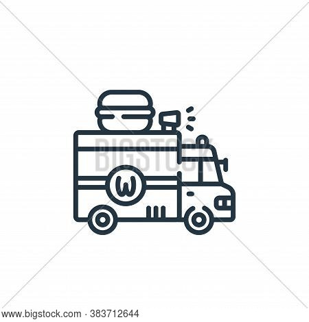 food truck icon isolated on white background from fast food collection. food truck icon trendy and m