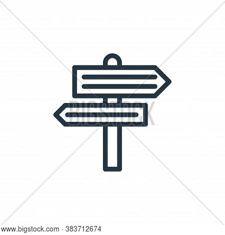 road sign icon isolated on white background from travel collection. road sign icon trendy and modern