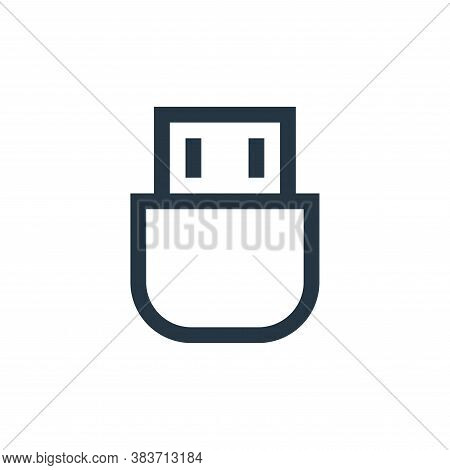 usb icon isolated on white background from electronic collection. usb icon trendy and modern usb sym