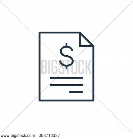 invoice icon isolated on white background from finance collection. invoice icon trendy and modern in